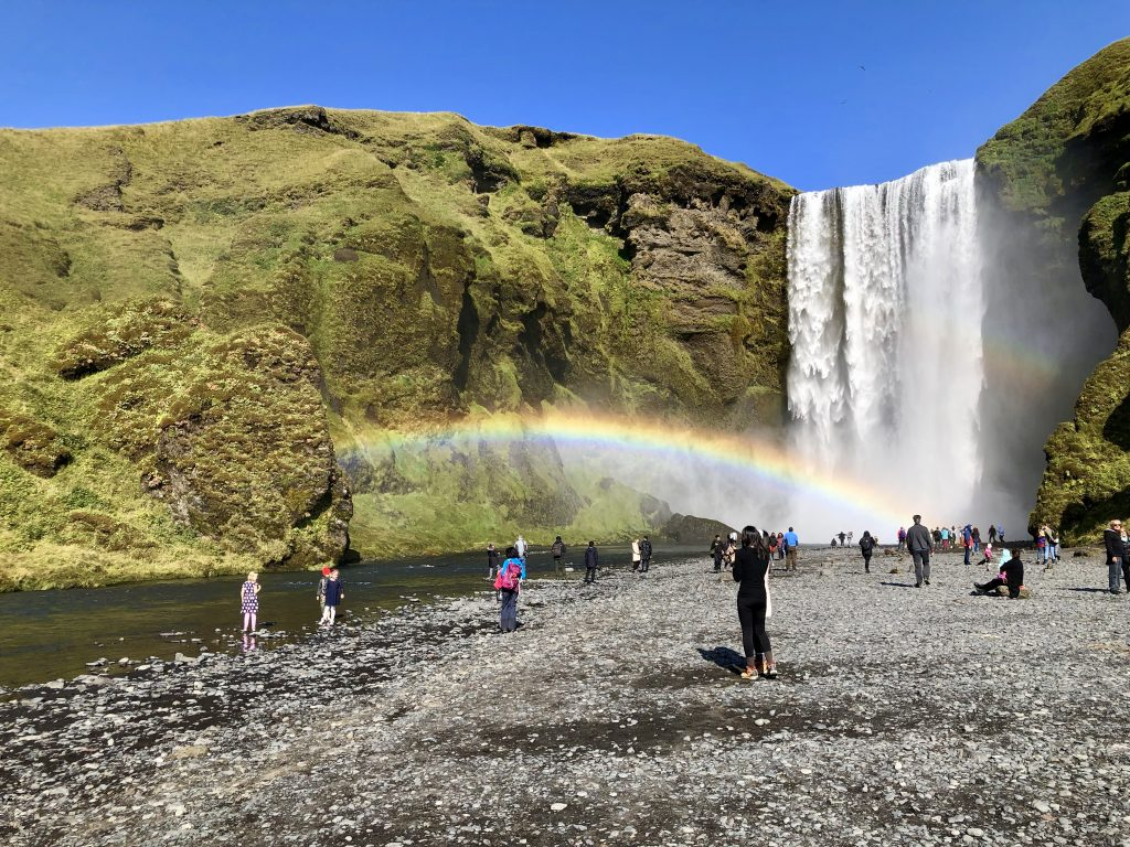 Waterfall rainbow Iceland