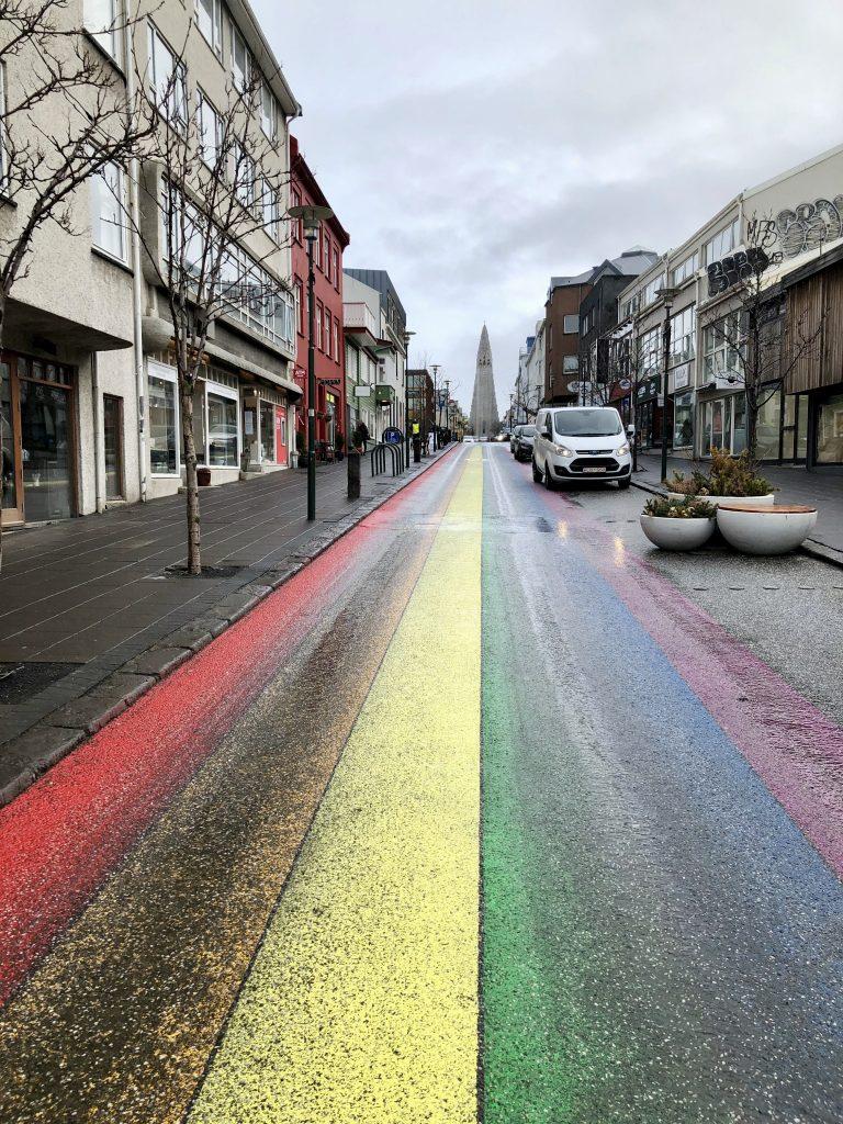 Rainbow floor Reykjavik city
