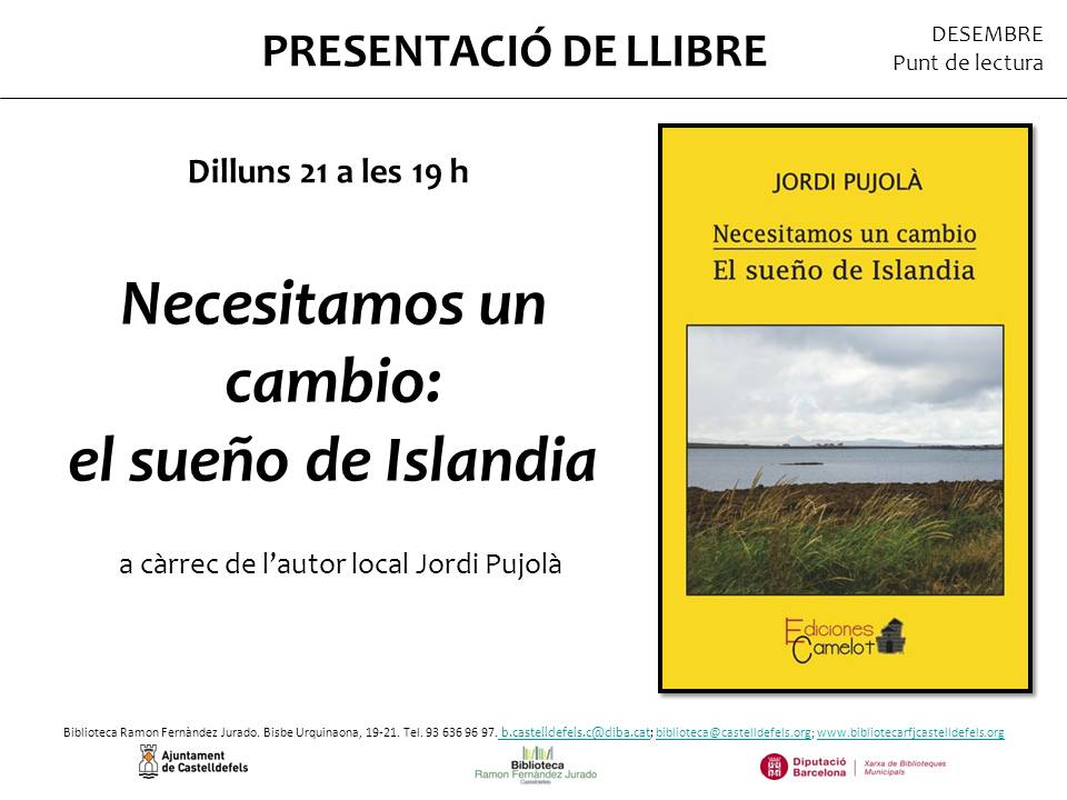 Cartel presentación en Castelldefels