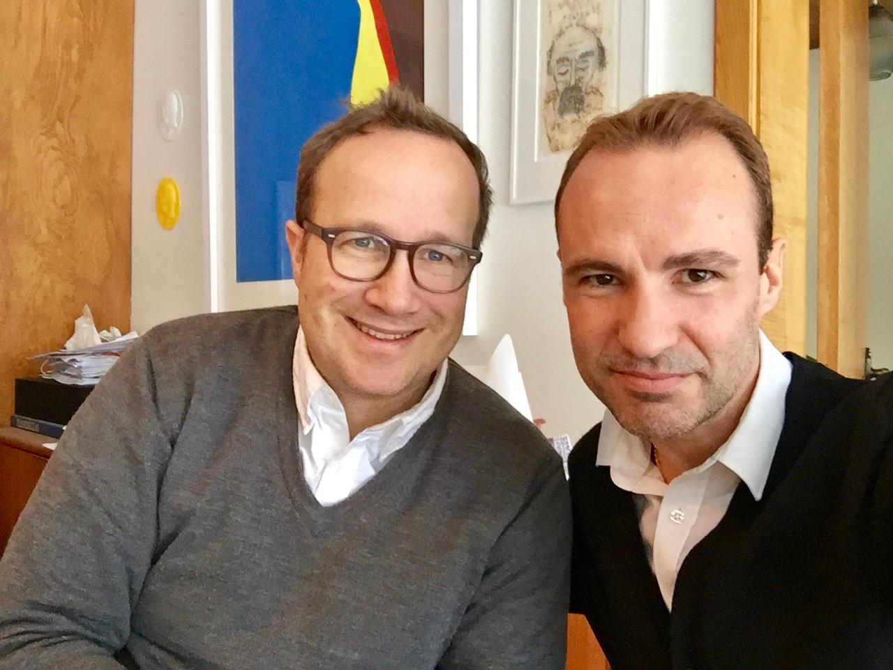 Andri Magnason interview English with Spanish author Jordi Pujola