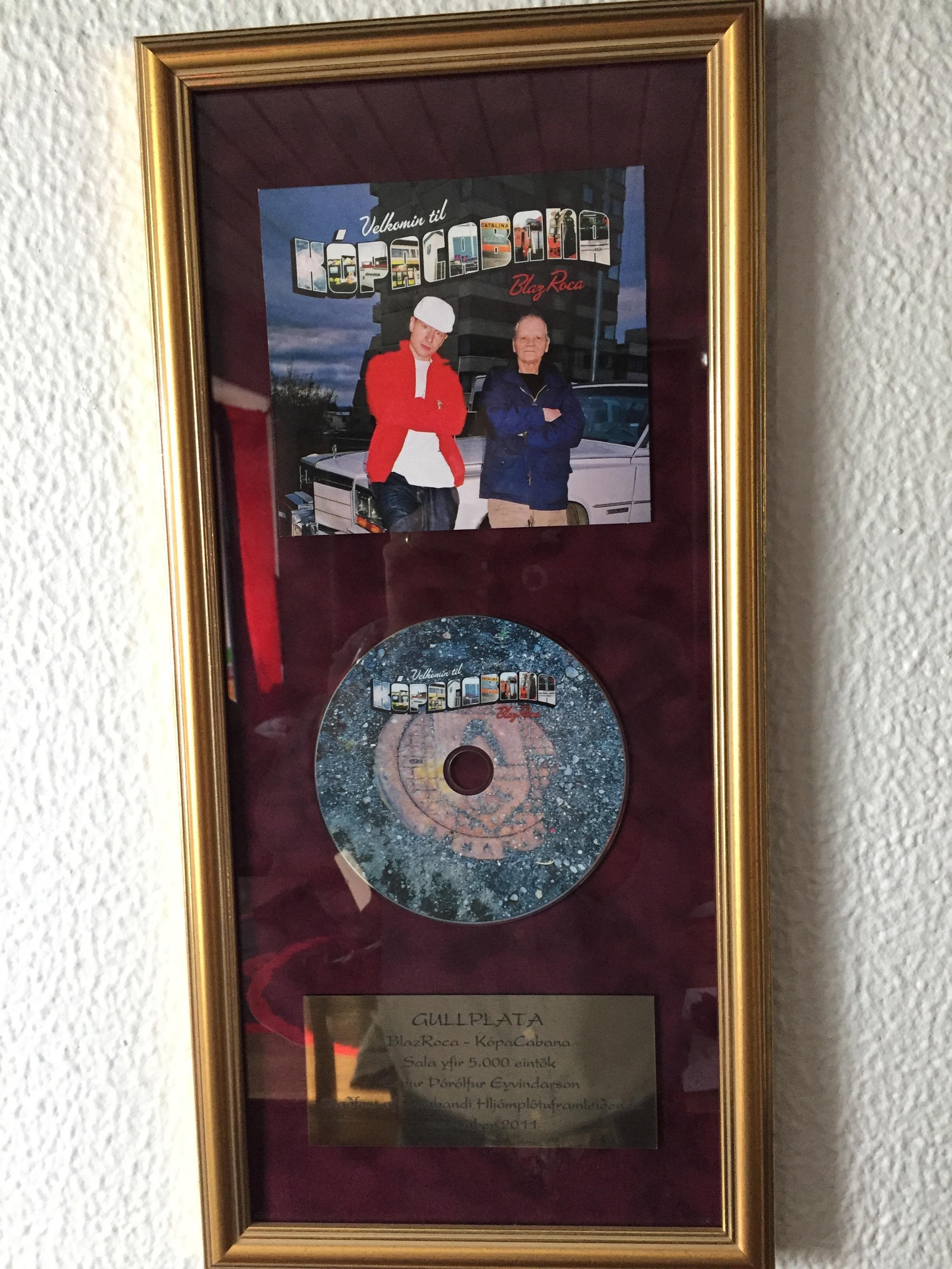 Interview rapper Blaz Roca award Kópacabana Gold Disc