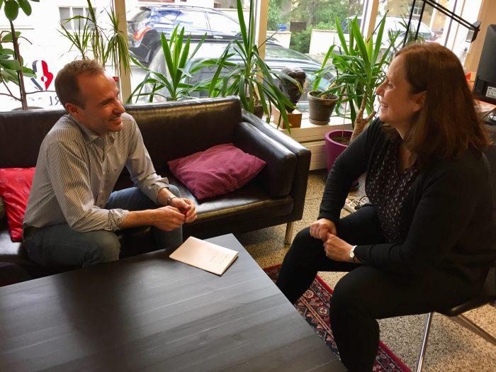 Interview Hólmfrídur Matthíasdóttir Forlagid publisher Úa office Bræðraborgarstíg
