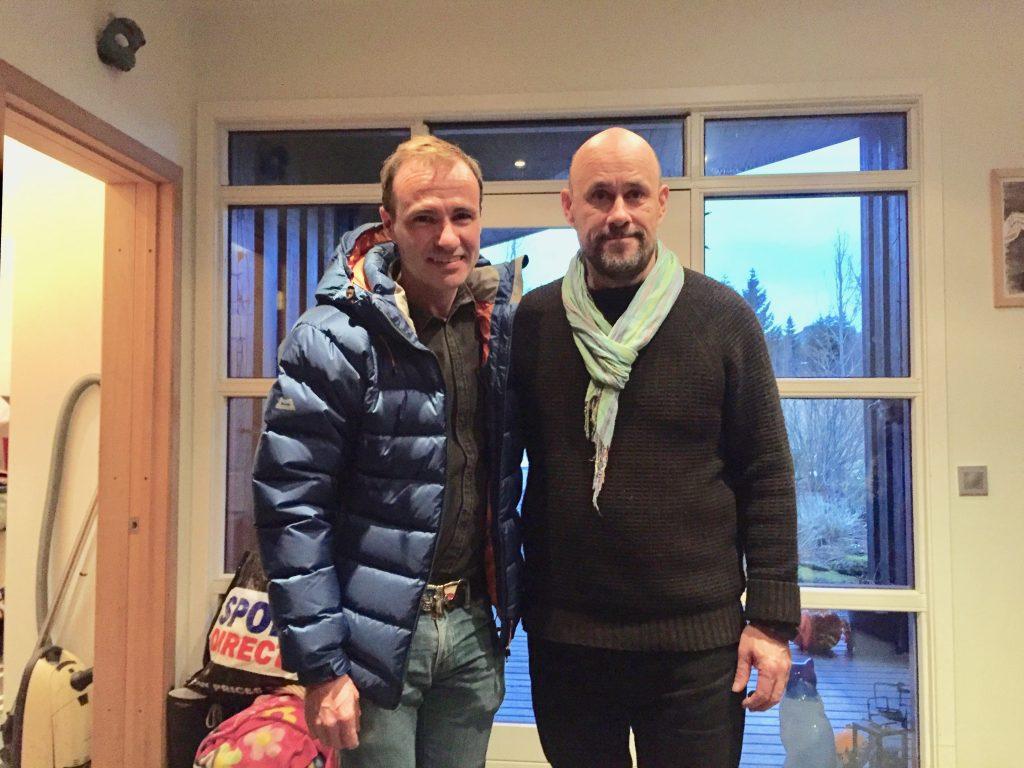 Benedikt Erlingsson and the Catalan writer Jordi Pujolá