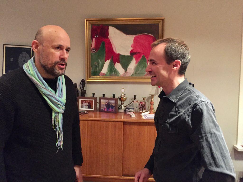 Benedikt Erlingsson and Jordi Pujolá in Reykjavik
