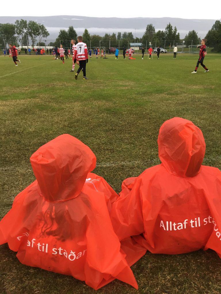Kids playing football Akureyri