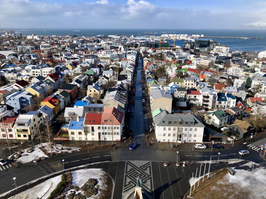 Famous panorama Reykjavik